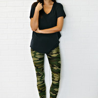 * Jocelyn Print Leggings: Camo