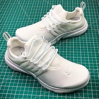 Nike Air Presto TP QS All White #8 Breathable Sport Running Shoes - Best Online Sale