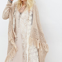 FOREVER 21 Open-Front Shawl Cardigan
