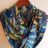 Sale Chiffon Colorful  Infinity  Scarf, Women scarves,  loop scarf, accessories, circle scarf, eternity scarf, scarf, tube scarf