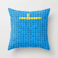 Wordsearch LOVE:  Find All The Boys Throw Pillow by Alice Gosling | Society6