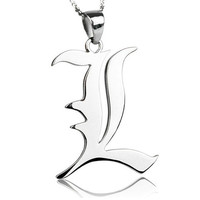 Death Note L 925 Sterling Silver Necklace Cosplay Death Note Necklace