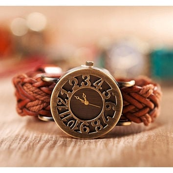 Bracelet Leather Watch, Women Wrap Watch, Unique Wrist Watch, Christmas Gift, Birthday Gift = 1932869060