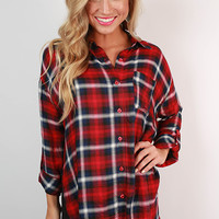 Steamboat Plaid Button Up Top