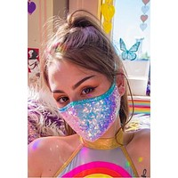 Cosmic Sequin Tailored Face Mask - J Valentine FF556
