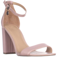 Guess Bamboo Ankle Strap Heeled Sandals - Light Pink