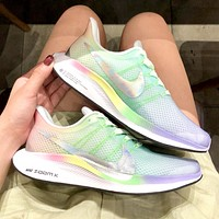 NIKE ZOOM Turbo new women's tide brand breathable mesh translucent seamless breathable running shoes