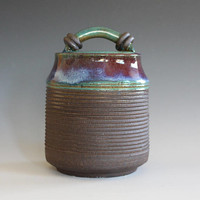 Handmade ceramic jar, pottery jar, ceramics and pottery