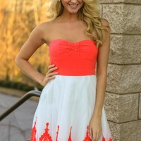 All Dolled Up Dress-Coral