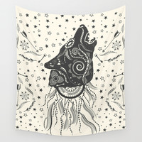 Wolf Wall Tapestry by Famenxt