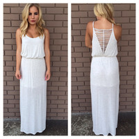 Heather Grey Jersey Maxi Dress