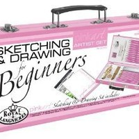 Royal & Langnickel Pink Art Beginner Artist Sketching and Drawing Wood Box Set