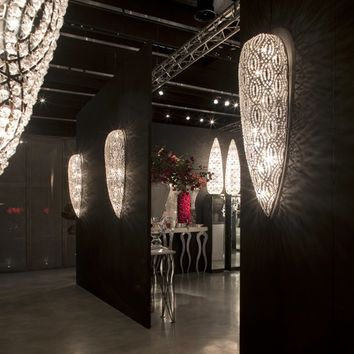 Classic style glass and steel wall lamp DROP MEDIUM ARABESQUE VG Lighting Collection by VGnewtrend