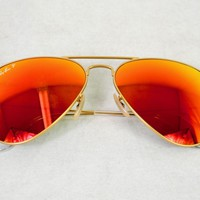 Ray-Ban Aviator Gold, Lenses Polarized Orange