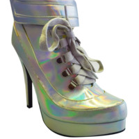 Holographic Lace-up