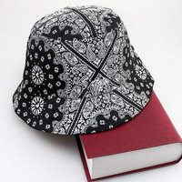 Men Women Bucket Paisley Hiking Flower Hat Hunting Fishing Outdoor Fisherman Cap