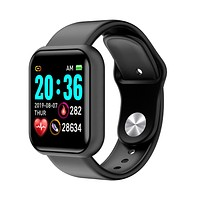 Smartwatch Android iOS Bluetooth Waterproof Heart Rate Monitor Blood Pressure Measurement Distance Tracking Information Pedometer Call Reminder Activity Tracker Sleep Tracker Sedentary