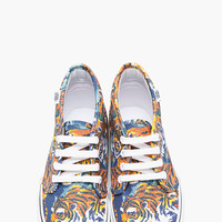 ORANGE FLYING TIGER PRINT VANS EDITION CHUKKA SNEAKERS