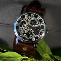 Leather Watch (Mechanical Classic Style)