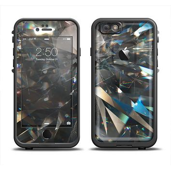 The Abstract Shattered Crystal Pattern Skin Set for the Apple iPhone 6 LifeProof Fre Case