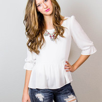 Always and Forever Peplum Top