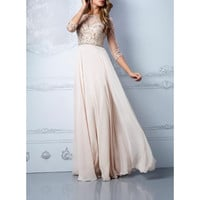 3/4 Sleeves Prom Dresses, Prom Dresses,Long Evening Dress