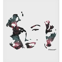 """Marilyn Monroe Galaxy Design and Quote 9 x 10.5"""" Rectangular Static Wall Cling by TooLoud"""