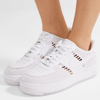 Nike - Air Force I Upstep leather and mesh sneakers