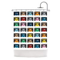 """Project M """"Rainbow Tapes"""" Shower Curtain"""