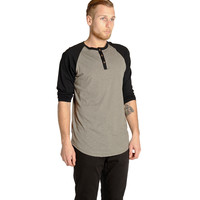 Mens Abyss 3/4 Sleeve Henley (hb)