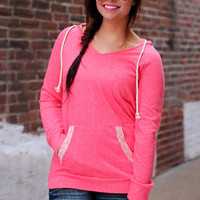 Lacey Days Hoodie - Pink
