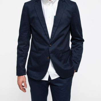 General Assembly Navy Washed Twill Blazer