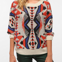 Staring at Stars Bold Graphic Pullover Sweater