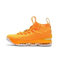 Best Deal Online Nike LeBron James 15 XV Orange White Men Basketball Shoes Sport Sneaker