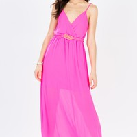 Surplice Cami Belted Maxi