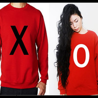 XO Matching Couple Unisex Sweatshirt/ Tshirt (Gift for Couples)