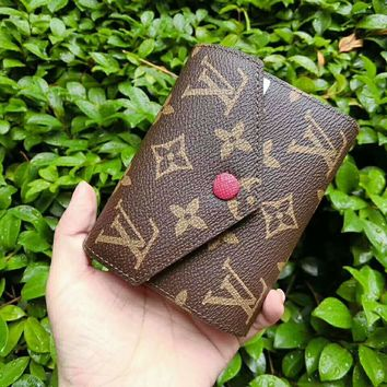 LV Women Shopping Leather Handbag Tote Wallet Bag
