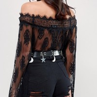 Sacred Hawk Studded Belt with Stars and Moons at asos.com