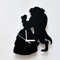 Beauty and the Beast Silhouette - Wall Clock