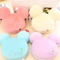 1PC New 38cm Classic Cartoon Mickey Mouse Ma Caron Color Plush Toys Stuffed Pillow Kids Toys for Children's Gift Brinquedos