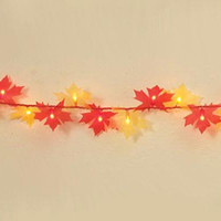 Maple Leaf Harvest Thanksgiving Lights - Red And Yellow Maple Leaves