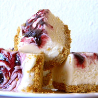 EASTER SALE Julie's Fudge - BLACKBERRY Cheesecake With Graham Cracker Crust - 12 Pieces (over 1 pound)