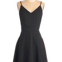 ModCloth LBD Mid-length Spaghetti Straps A-line Sure and Simple Dress