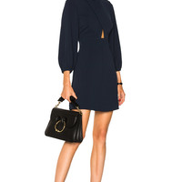 Tibi Cut Out Mini Dress in Midnight Navy | FWRD
