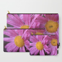 Purple Flower Carry All Pouch - Make-up Bag- Pouch- Toiletry Bag - Change Purse - Organizing Bag - Made to Order