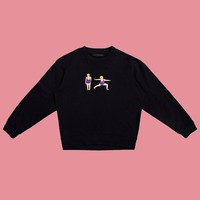 Reduce Weight Double Knit Pullover Sweatshirt
