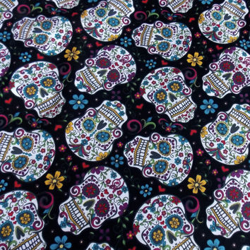 Day of the Dead Fabric BTY BTHY Mexican Fabric Holiday Fabric Skull Fabric Curtain Fabric Home Decor Accessory Craft Fabric Cotton Fabric