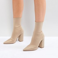 ASOS EBONIE High Heeled Sock Boots at asos.com