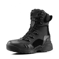 Outdoor Hiking Boots Men Army Military Tactical Soft Leather Combat Ankle Boots Size 39-45