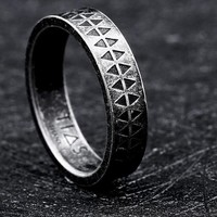 Steel soldier fashion ring for men